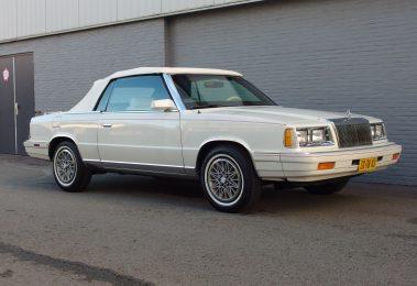 Chrysler LeBaron Convertible 1986 (Unique Car & Rust Free)