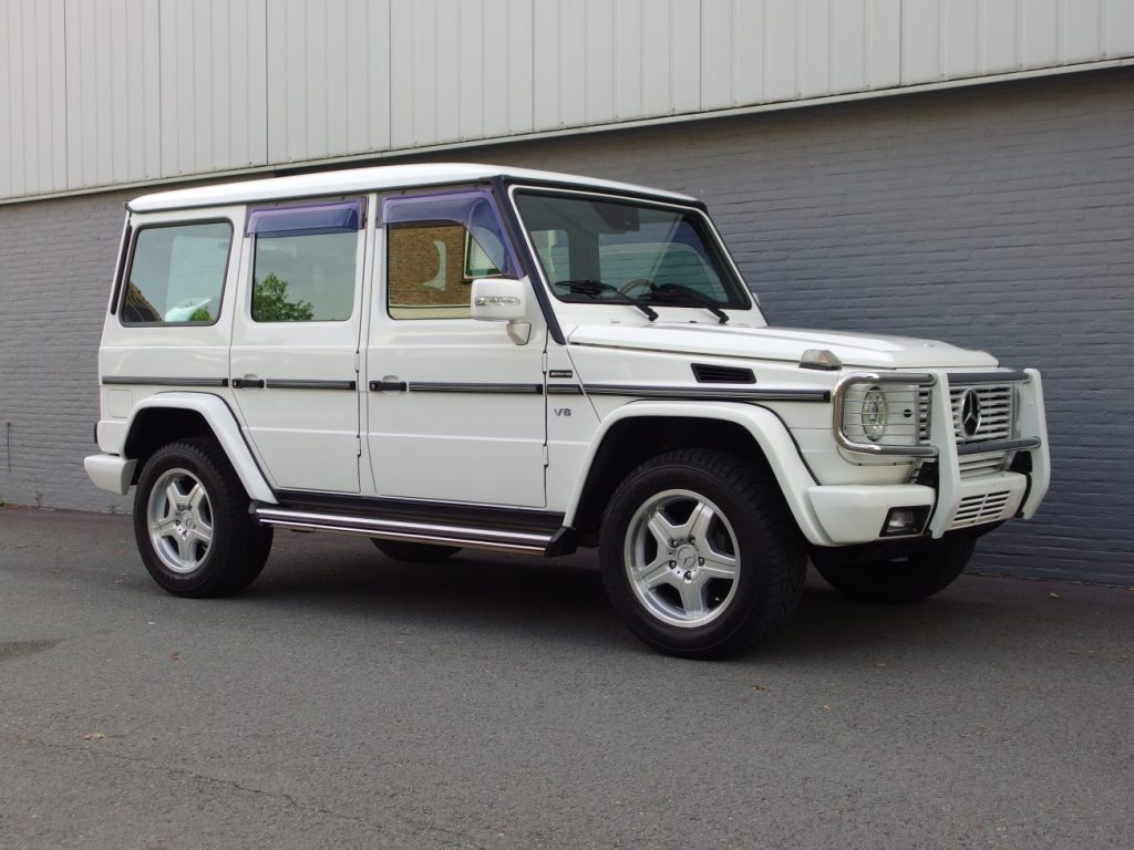 Mercedes G500 Long 2002 (Japan Import in shining Alabaster White)