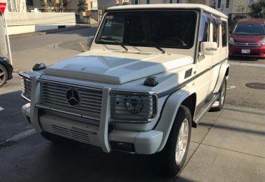 Mercedes G500 Long 2002 (Japan Import in shining Alabaster White)
