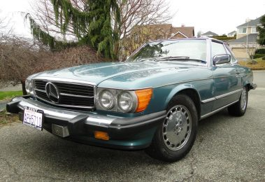 Mercedes 560 SL 1987 (Rare Color Combination & Rear Seats)