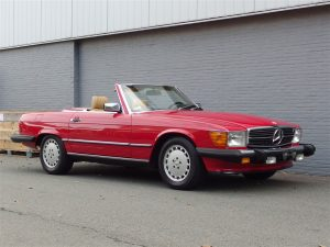Mercedes 560SL 1988 (Red on Palomino & EU Headlights)