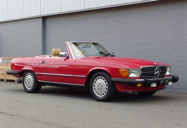 Mercedes 560SL 1988 (Red on Palomino & EU Headlights)