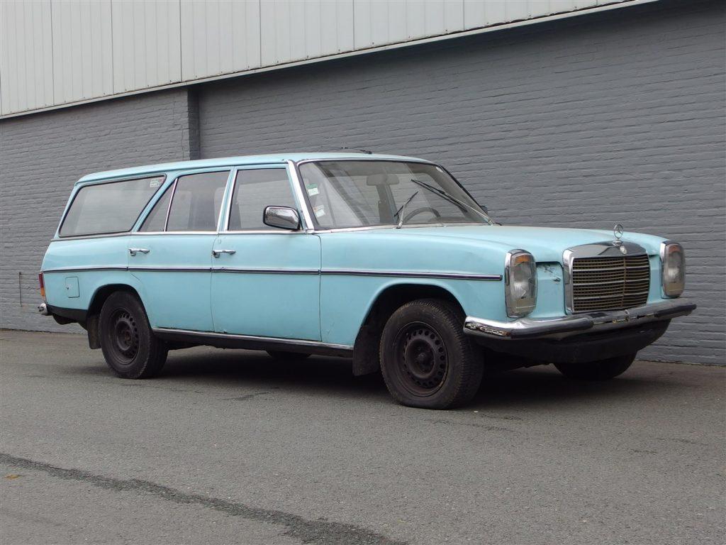 Mercedes 240D Estate W115 1976 (Unique Barn Find & MOVAuto Conversion)