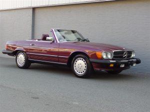 Mercedes 560 SL 1986 (4 Seater in Beautiful Cabernet Red)